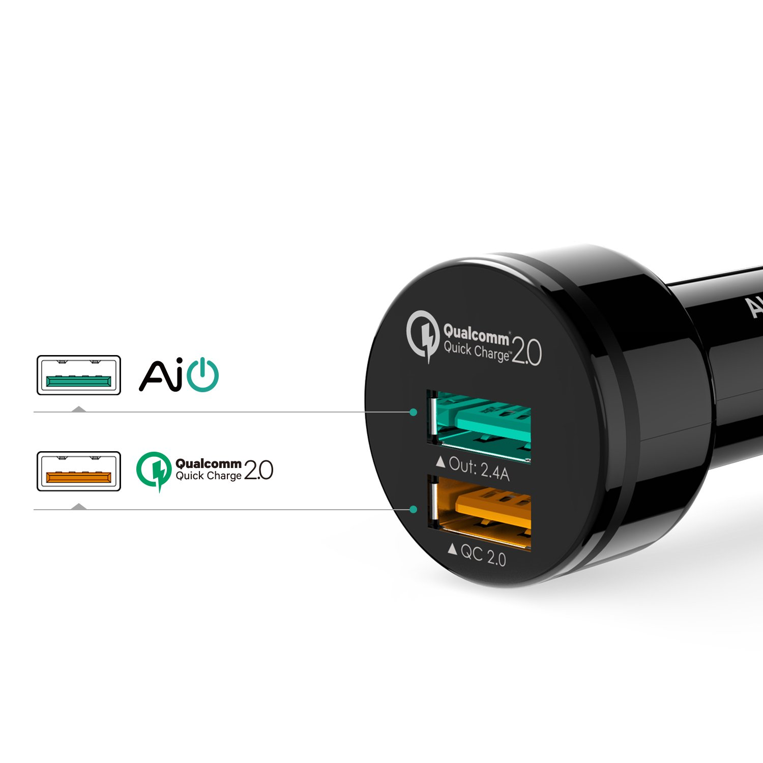 iphone quick charge. aukey fast charge car charger 30w, 1 quick 2.0: amazon.co.uk: electronics iphone
