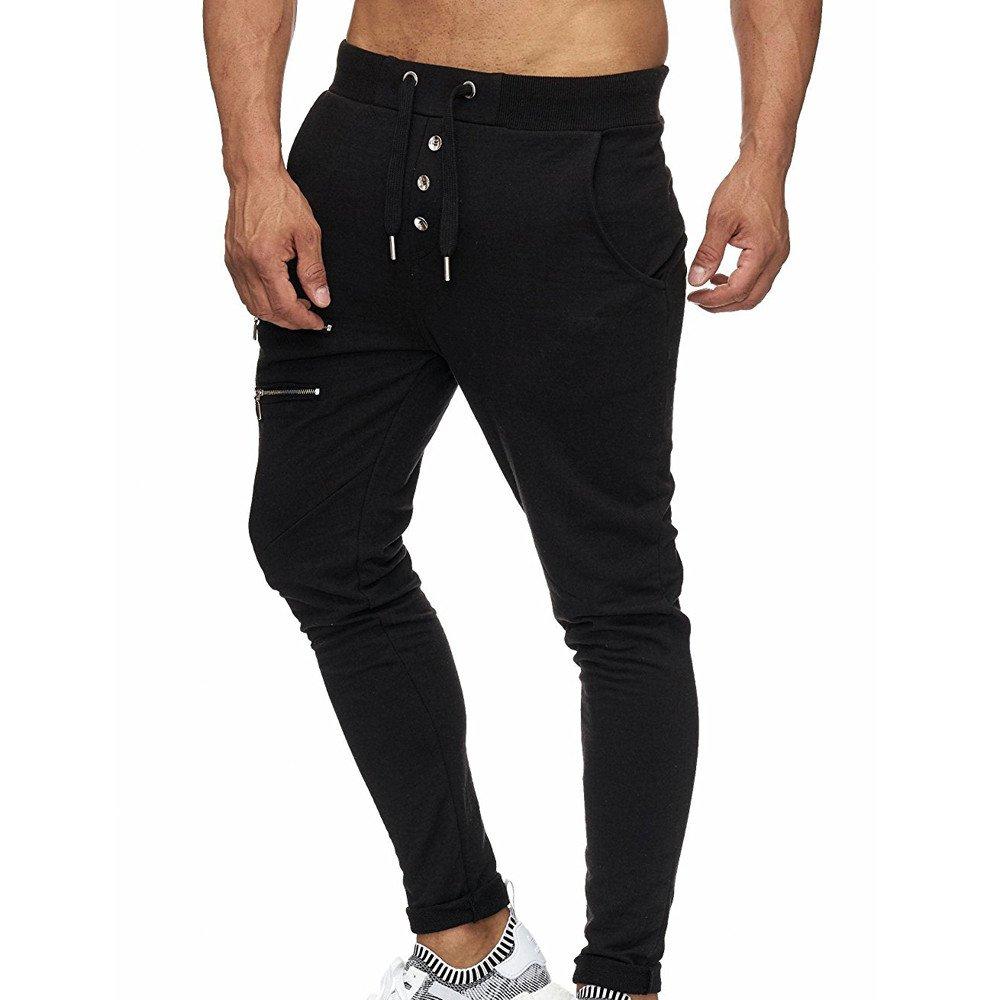 Spbamboo Mens Slim Fit Pockets Casual Pocket Sport Work Zipper Trouser Pants by Spbamboo (Image #2)