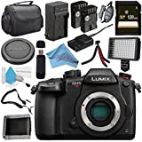 Panasonic Lumix DC-GH5S Mirrorless Micro Four Thirds Digital Camera + DMW-BLF19 Lithium Ion Battery + External Rapid Charger + 128GB SDXC Card + Carrying Case + Memory Card Wallet + Card Reader Bundle