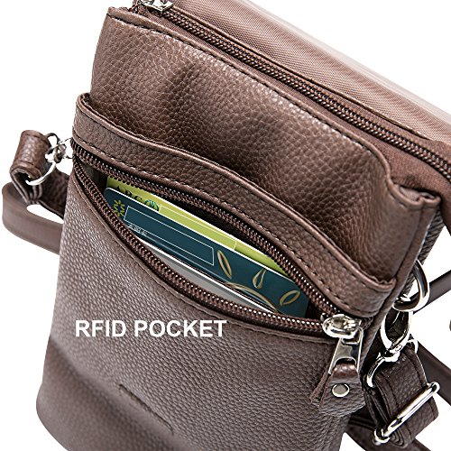 Cross Bag body Phones handbags letter Fits Charm14 Cross Womens all Hudson V Brown Cell body Phone tq7YR0wx