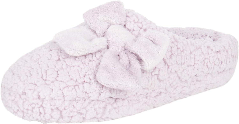Jessica Simpson Women's Plush Marshmallow Slide on House Slipper Clog with Memory Foam