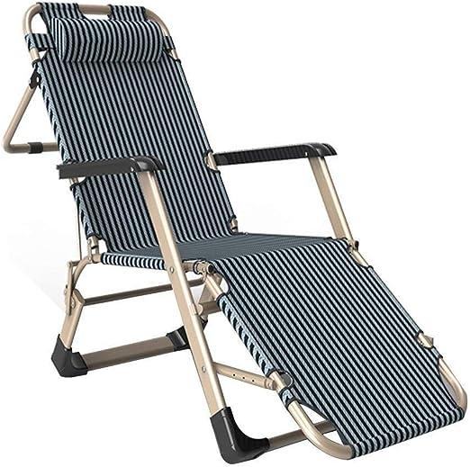 Mueble de jardín / Sillas reclinables Sillas plegables de oficina Oficina de descanso for el almuerzo Cama individual Acompañamiento de jardín Sillón de jardín de gravedad cero Sillón reclinable liger: Amazon.es: Jardín