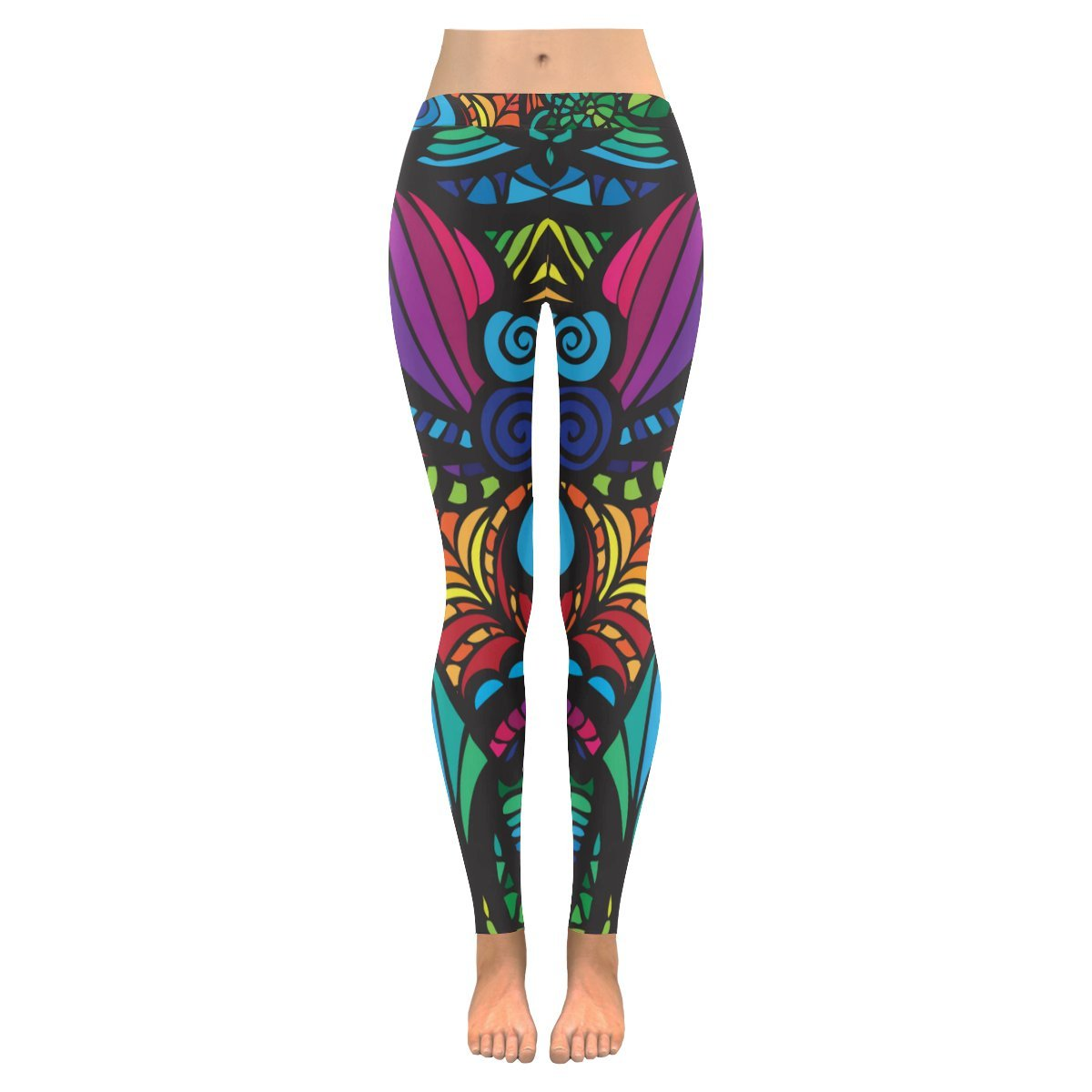 94772dcd7b1651 Zenzzle Mosaic vector pattern women Low Rise outdoor Leggings plus size:  Amazon.co.uk: Clothing