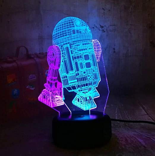 Luces Nocturnas 3D Lámparas De Mesa LED Serie Doble Mixta ...