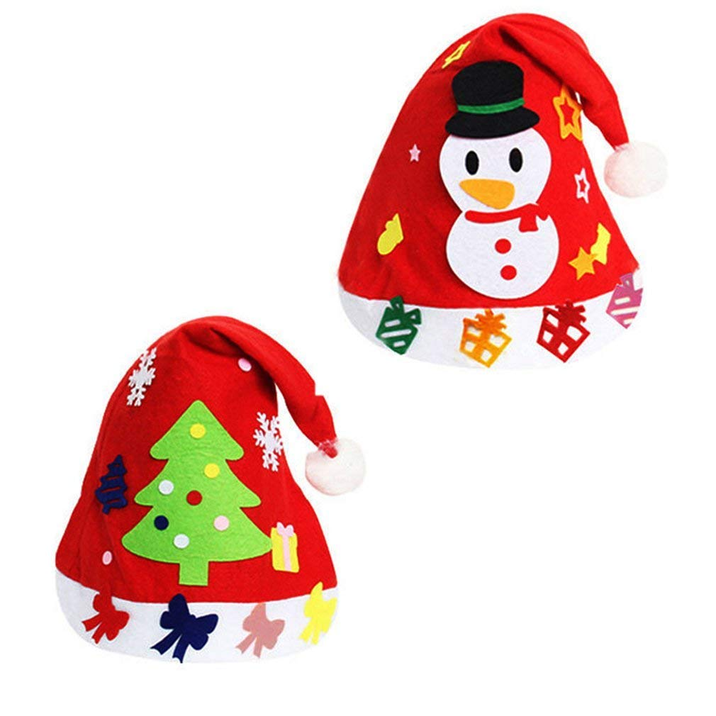 Tcplyn Premium Quality Christmas DIY Plush Non - Woven Fabric Hats Creative Decoration Supplies