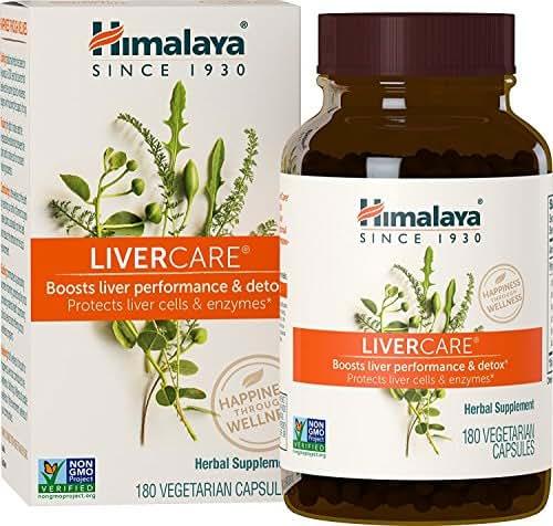 Himalaya LiverCare/Liv.52, 180 Vegetarian Capsules for Liver Detox 375mg by Himalaya