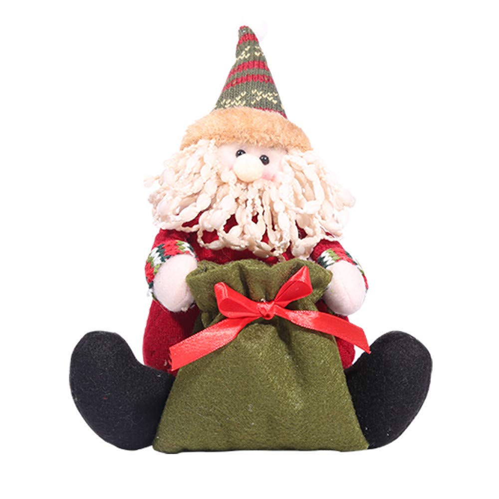 Christmas Standing Toy Doll Xmas Figurine Toy Xmas Tree Home Party Car Decorations Zulmaliu (D)