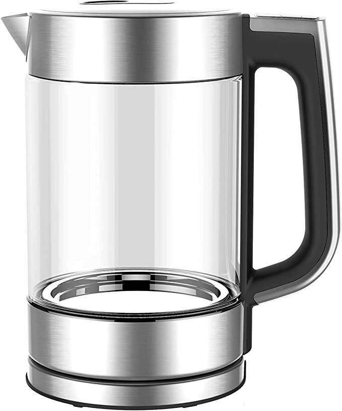 HadinEEon Kettle Electric, 1.7L Glass Portable Electric Kettle, Variable Temperature Control