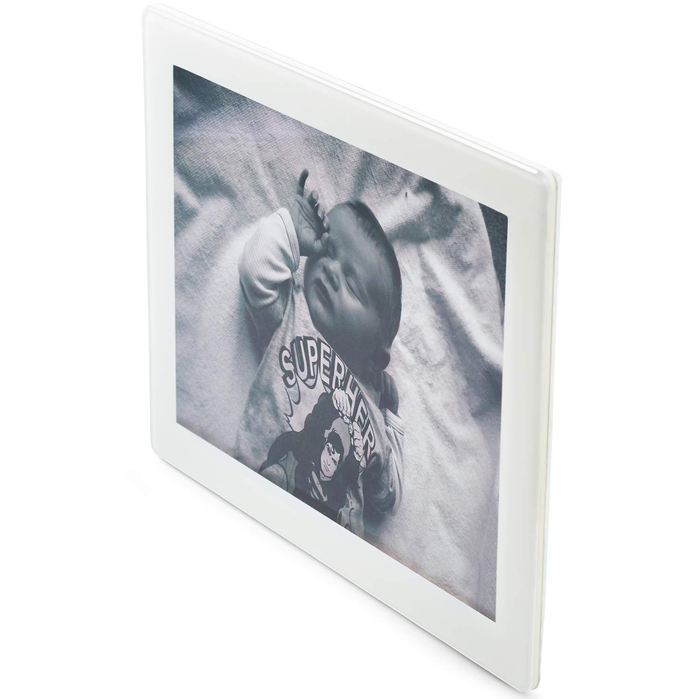 Fotorahmen, 6 x 4, Standardfotogröße, bruchsicheres weißes Acryl, Verwendung Hoch- oder Querformat, 6x4 Bilderrahmen Standardfotogröße Scribble S2-6X4W