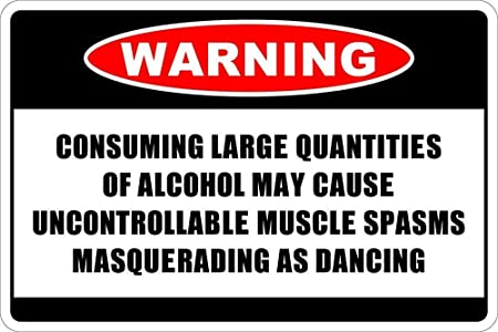 SALWON Consuming Alcohol -Cartel De Chapa Advertencia Placa ...
