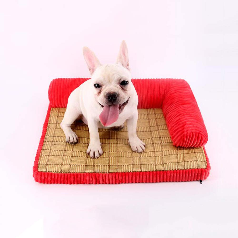 Red X-Large Red X-Large YQQ Pet Sofa Dog Bed Cat Nest Kennel Washable Pet Supplies Cozy (color   RED, Size   Xl)