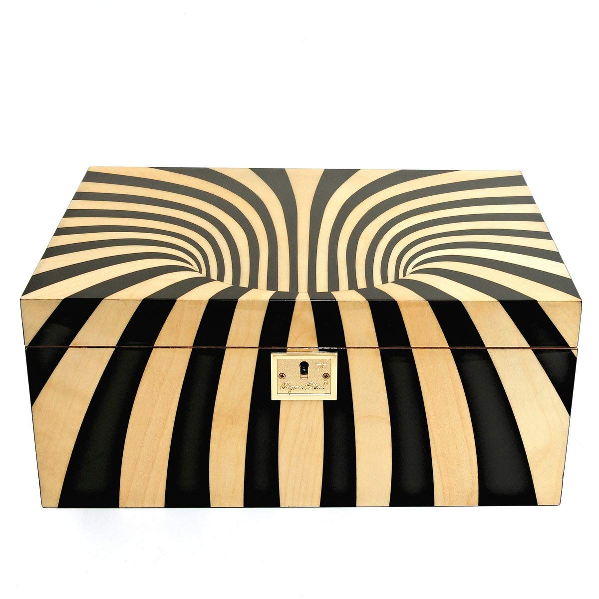 Cigar Star Boketto Humidor Limited Edition Optical Illusion Made from Wood! by Cigar Star