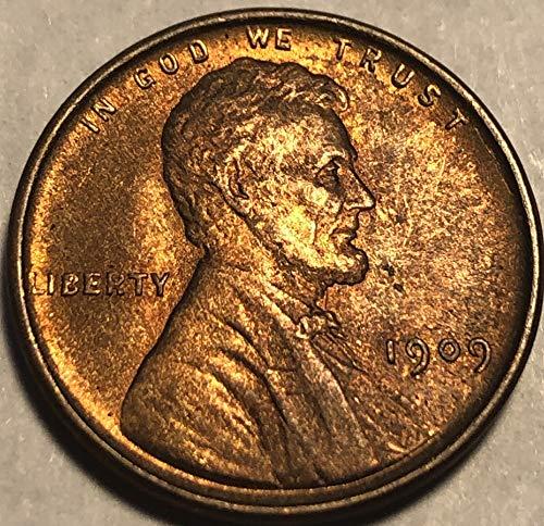 1909 P Lincoln ((RARE VDB Semi-Key Date)) Beautiful Wheat penny Cent ()