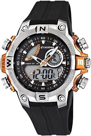 hombre K5586/4 - Reloj hombre, Analógico-Digital sumergible, alarma, cronómetro, luz, color negro: Amazon.es: Relojes