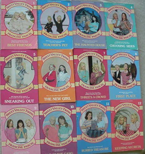 Sweet Valley Twins, Set, Collection, Volume 1-12. Best Friends, Teacher's Pet, the Haunted House, Choosing Sides, Sneaking Out, the New Girl, Three's a Crowd, First Place, Against the Rules, One of the Gang, Buried Treasure, Keeping Secrets