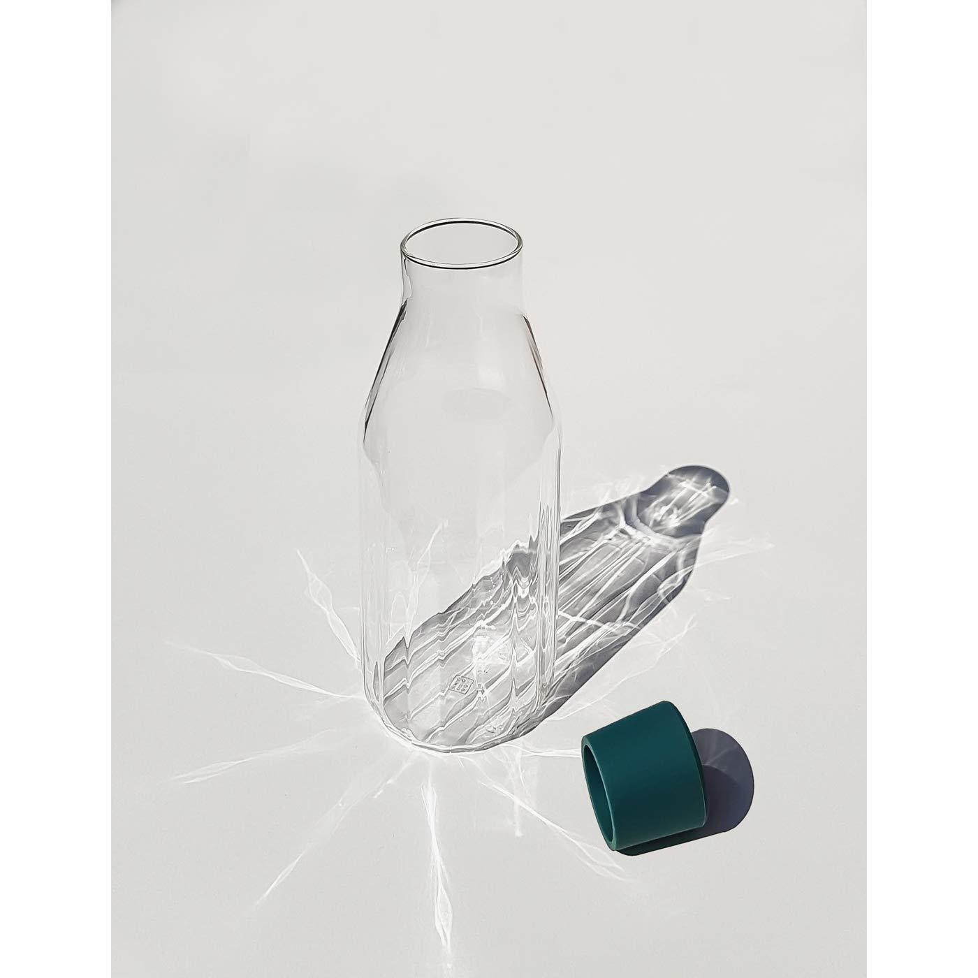 caraffa con tappo in silicone da Yod e CO 9.6cm X 26cm Green Rivington caraffa 1.1l//vetro soffiato a mano