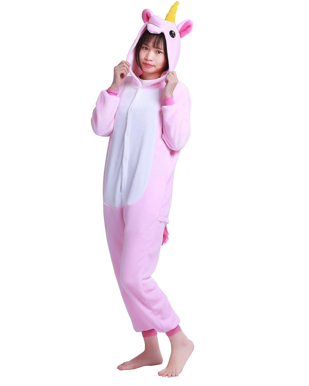 CHICTRY Unisexe Enfants Flille Gar/çon Pyjama Combinaison /à Capuche Mignon Licorne Animaux D/éguisement Cosplay Costume Ensemble de Pyjama