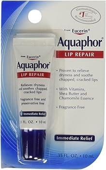 Aquaphor Lip Repair Tube Blister Card, 0.35 Ounce (Pack of 4)