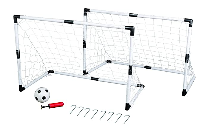 15 opinioni per Idena 7370007- Set composto da due porte da calcio per bambini, un pallone e una