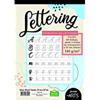 Bloco de Exercícios Para Lettering, jandaia, 70326-77, Arts, A4, 180 Gramas, 210x297 mm, 28 Folhas