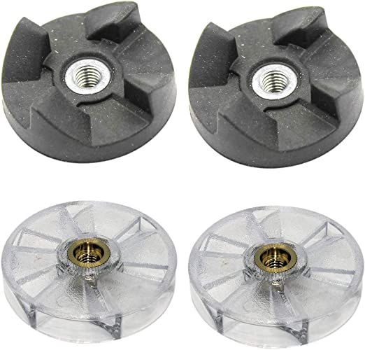 Replacement Base Gear Juicer Blender Replacement 2 Base Gear 2 Rubber Blade Gears Spare Parts for 250W Juicer Replacement Rubber Gear