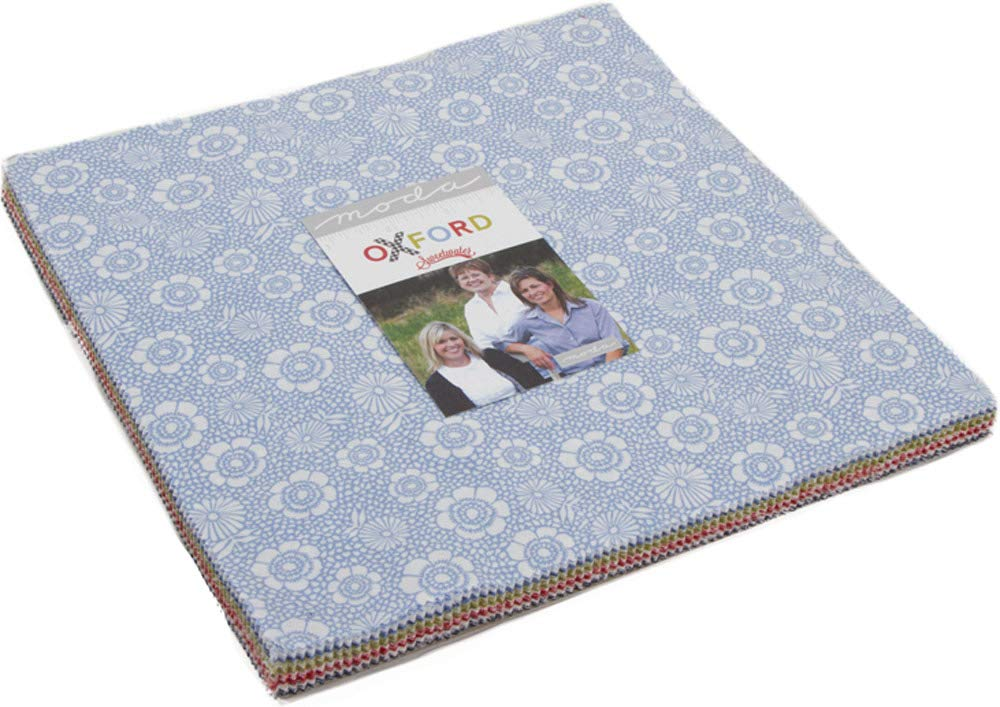 Oxford Prints Layer Cake, 42-10'' Precut Fabric Quilt Squares by Sweetwater by MODA