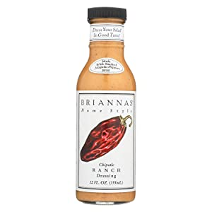 Brianna's Home Style Chipotle Ranch Dressing, 12 Ounce (Pack of 6)