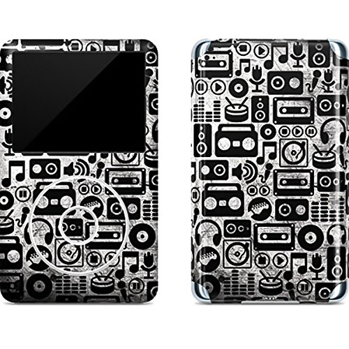Ipod Classic Device Skin - Music iPod Classic (6th Gen) 80 & 160GB Skin - Music Pattern Vinyl Decal Skin For Your iPod Classic (6th Gen) 80 & 160GB