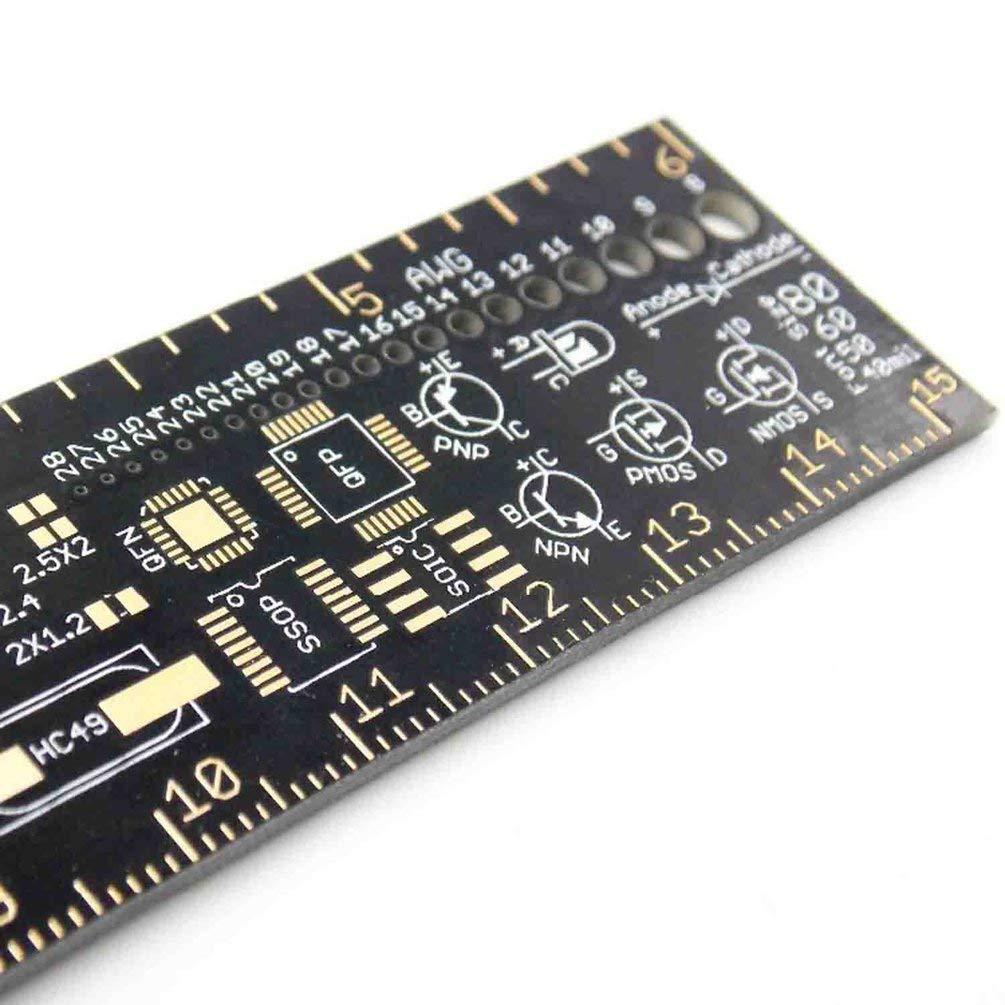 TAOHOU PCB Regla V2-6para los Ingenieros electr/ónicos Geeks Makers Arduino Fans Colorful