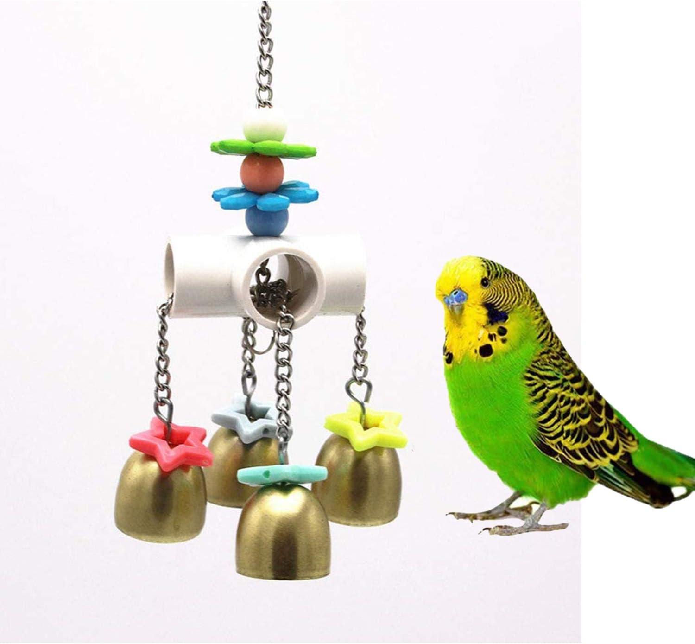 ZYYRSS Campanas de juguete con sonido dulce para pájaro, loro, guacamayo, gris africano, jaula de juguete para jaula de juguete accesorios de Amazon jaula