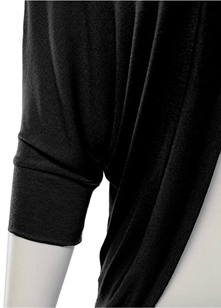 YuanDian Donna Autunno Casual Tinta Unita Loose Fit Mezza Manica Pipistrello Manica Aperto Davanti Cardigan Sottile Maglieria Giacche Cardigan