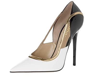 397eb2054f SZXC Women'S Closed Pointed Toe Stiletto White High Heels For Wedding Dress  Pumps Court Shoes ,