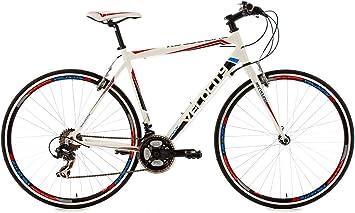 KS Cycling Velocity 120R - Bicicleta de paseo, color blanco, talla ...