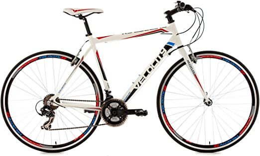 KS Cycling Velocity 120R - Bicicleta de paseo, color blanco, talla ...