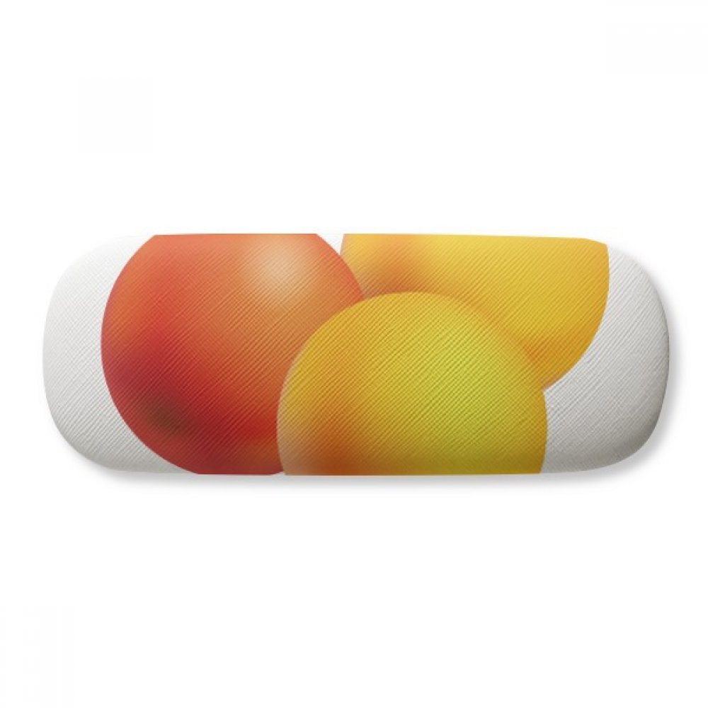 Orange Pill Health Care Products Pattern Glasses Case Eyeglasses Clam Shell Holder Storage Box