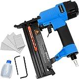 Druckluft Nagler und Tacker 2in1 | inkl. Koffer | +Nägel | +Sechskant | +Öl | 100er Magazin Drucklufttacker Druckluftnagler Klammergerät Nagelgerät