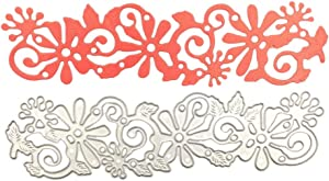 Metal Cutting Dies Stencils, Hollow Lace Flower Metal Scrapbooking Dies Cuts Handmade Stencils Template Embossing for Card Scrapbooking Craft Paper Décor