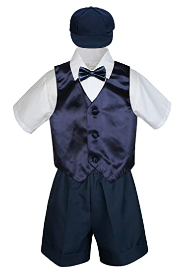Leadertux 3pc Formal Baby Toddler Boys Burgundy Bow Tie Brown Pants Outfits S-7 3T