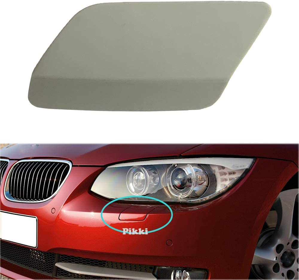 Pikki for E92 E93 3-Series 2011-2014 LCI Front Bumper Headlight Washer Cover (unpainted, Left Side)