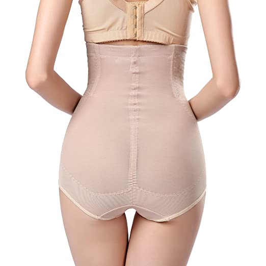 79644fd3505bb Queenral Women s High Waist Tummy Control Top Panties Plus Size Butt Lifter  Shapewear Apricot