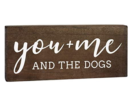 Amazon.com: Cartel de madera con texto en inglés «You Me and ...