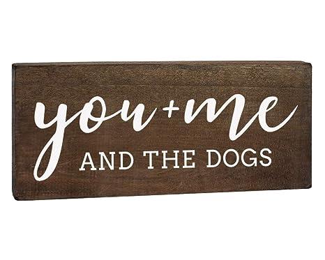Amazon.com: Cartel de madera con texto en inglés «You Me and ...