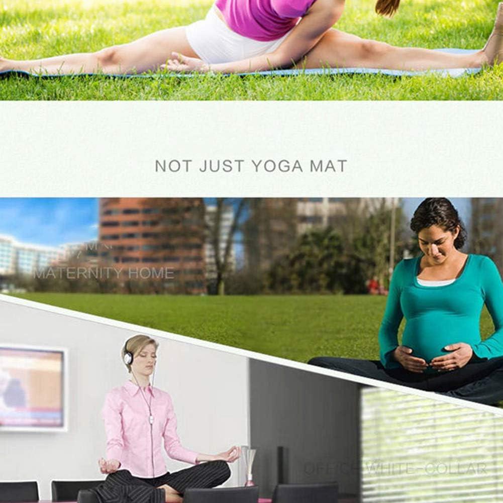 AOQUNFS Esterilla de Yoga Antideslizante de TPE Colchoneta de Pilates de Fitness En Gimnasio Casa,S-1