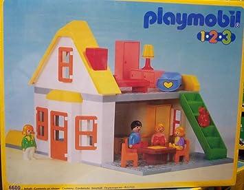 Amazon De Playmobil 6600 Playmobil 123 Haus Mit Figuren