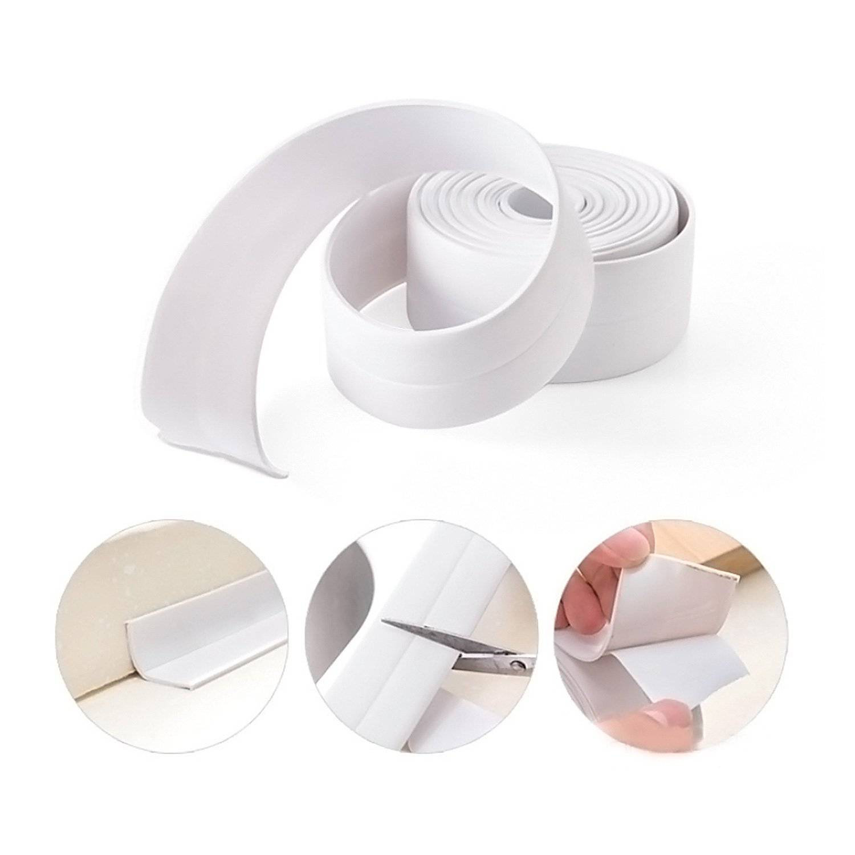 Caulk Strip FEIGO® Bathtub Caulk Strip Sealer Tape Kitchen Sealant Tape Wall Sealing Tape Waterproof Tub for Bathroom Floor Corner 3.2m*2cm