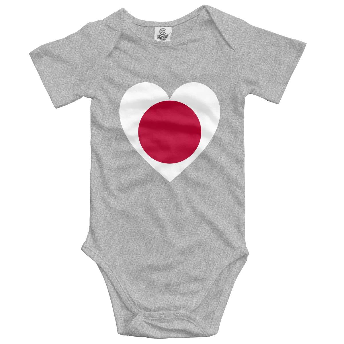 Baby Short-Sleeve Onesies Love Japan Flag Bodysuit Baby Outfits