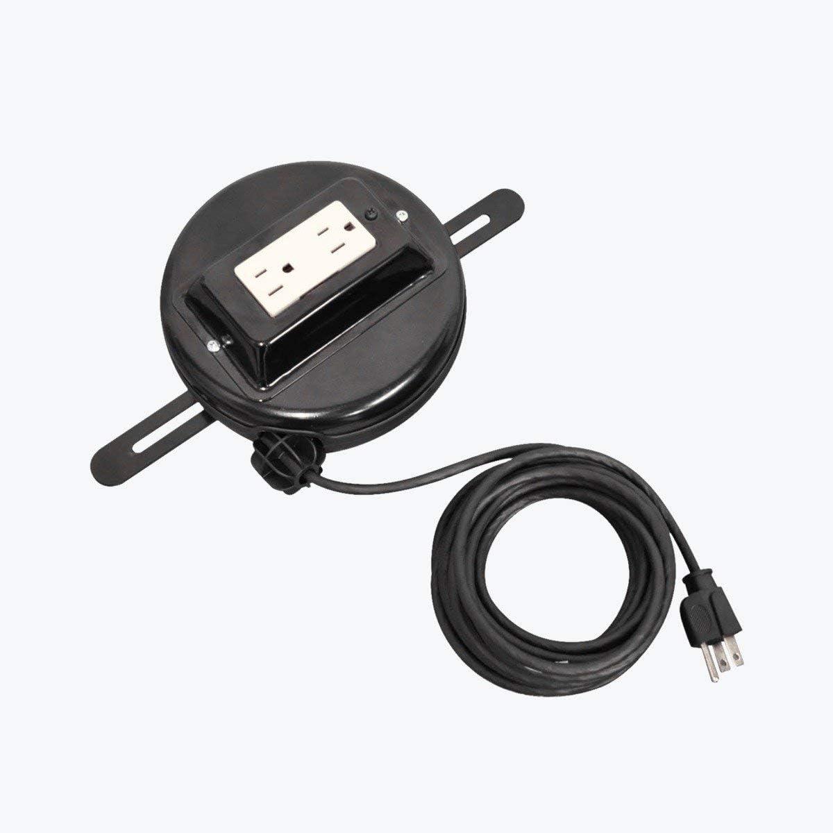 "LUXOR RE20 Retractable Power Cord, 20"""