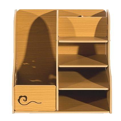 Bookcase Desktop Folder Storage Box Plastic Bookshelf Simple Desk Student Office File Holder Data