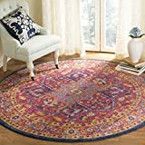 Safavieh Evoke Collection EVK275C Oriental Medallion Blue and Orange Round Area Rug (5'1 Diameter) Review