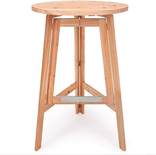 Stehtisch Klapptisch Bistrotisch Bartisch Tisch rund klappbar mit Holzplatte | Detec
